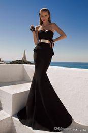 Wholesale Galia Lahav Exquisite Peplum Evening Dress Mermaid Sweetheart Neckline Sleeveless With Sash Floor Length Custom Made Prom Gown