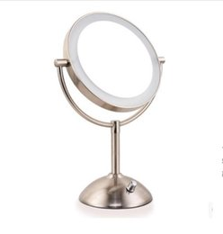 Wholesale Compact Mirrors With LED light Double sided mirror Makeup Mirrors inches Desktop Triple definition magnifying glass surface