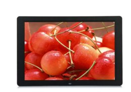 Discount electronic picture frame video ew BLACK 15 Inch Multifunctional HD Digital Photo Frame Electronic Picture Album with Mirror Panel Music Video Ebook Time Alarm Digital P...