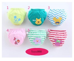 Wholesale Baby Cloth Diaper Huggies Nappies Fitted Diaper Baby Cute Cartoon Print Reusable Washable Pure Cotton Cloth Diaper Nappies