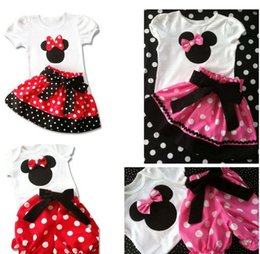Wholesale Girl s Suits Tshirt Pants Skirt Desigs Y New Baby girls Outfits Sets Outwear Minnie Mouse dress