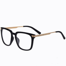 wholesale 2015 new brand large square plain glasses frame women men metal thin legs eyeglasses elegant optical frame retro eye glasses