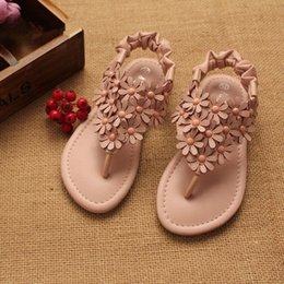 Wholesale Kids Shoes Girls Shoes Fashion Flowers New Summer Sandals for Girls Princess Shoes Microfiber Leather Childrens Sandals TZ