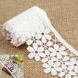 3 Yards Белый цветок типа год сбора винограда шнурка тесемки венчания Шитье Bridal платье Craft