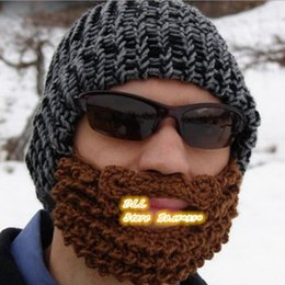 Wholesale New Handmade Knitted Crochet Beard Hat Bicycle Mask Ski Cap roman knight octopus Cool Funny beanies Gift