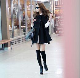 Wholesale 2014 New Korean Fashion High Quality Woolen Maternity Coat Black Maternity Winter Shawl Coats Warm Clothes