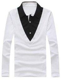 Wholesale 2014 Top new autumn Lapel collar comfortable all match shirt men s cotton shirts colors size M XXL