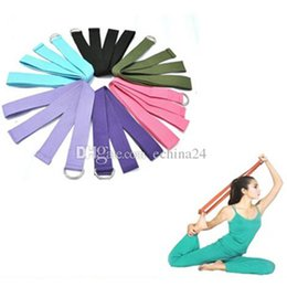 Wholesale Yoga Stretch Strap cm D Ring Belt Figure Waist Leg Fitness Exercise Gym Adjustable Yoga Stretch Strap