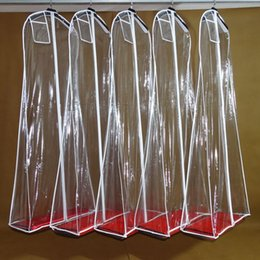 Wholesale Transparent Wedding Dress Dust Cover Omniseal Extra Large PVC cm Wedding Garment Bag