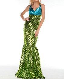 Wholesale Traje libre de la sirena del envío para el vestido de lujo adulto atractivo de Víspera de Todos los Santos de las mujeres
