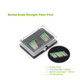 Wholesale New Dental Endo Straight Fiber Posts Tips Drill Thread Glass Protaper Files Green Ring mm BOX