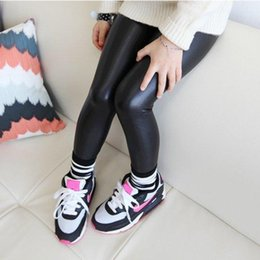 Wholesale Brand New Baby Girl Legging Fashion Full Length Leggings Leather Skinny Pants Girl Leggings Children Pants SV016546
