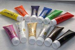 Wholesale New Acrylic UV Gel Design D Paint Tube Nail Art Pen Colors Nail Polish False tips Drawing