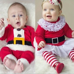 Wholesale Cute Lovely Merry Christmas Baby Girls Boys Clothing for Christmas Kids Xmas Outfits Sets