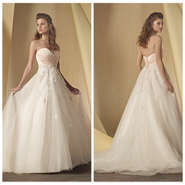 sweetheart pleated ruched a line wedding dresses lace appliques bridal gowns tulle custom vestidos de novia 2016 new designer petite petite wedding dress