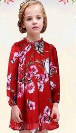 Wholesale Children s clothing new autumn long sleeved Girls chiffon skirt wlmonsoon girls dress high end custom Floral princess dresses