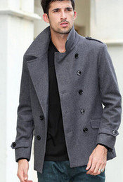 Short Pea Coat With Hood RgYAeJ