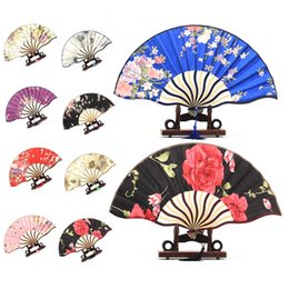 Wholesale Pretty Flowered Chinese Craft Handheld Folding Hand Fan Style