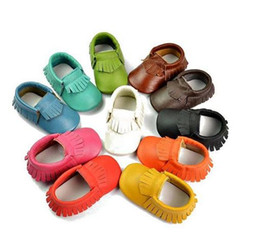 Wholesale 2015 leather Babies Moccasins Shoes booties toddler shoes colorful girls bows moccs