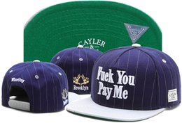 Wholesale HOT Cayler Sons Fuck You Pay Me Snapbacks Snapback blue white Cayler Sons snapback hats discount Caps Cheap Street Hats Online TY