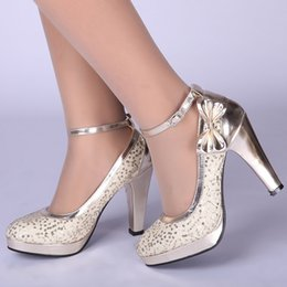 Wholesale litter Red Champagne Bridal High Heels Shoes Sequin Beaded Wedding Bridesmaid Shoes Party Shoes Prom Shoes