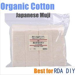 Wholesale 2015 wicking japanese cotton muji organic cotton unbleached cotton Pad Wick Nature Cotton coil build Rebuildable DIY