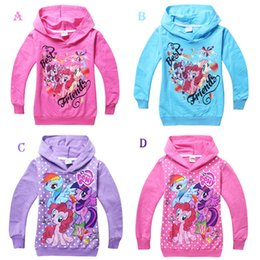 Wholesale 2015 Girls Spring Children s Hoodies Sweatshirts Fashion Kids hoody coats My Little Pony outerwear Clothing stock Cheap z