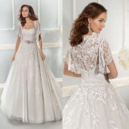Wholesale Nicest Exquisite Unique Size Avaliable White Short Sleeve Ball Gown Wedding Dress Bridal Dresses Beaded Zipper Sweep Train Elegant