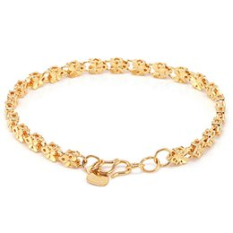 Wholesale 18 k goldplated for women luxury fashion jewelry beautiful bracelet gold palted women dress hot sale