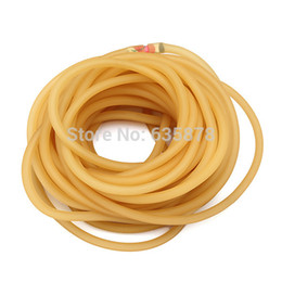 2017 latex catapult bands High Quality 10M 3x5mm Natural Latex Tubing Rubber Band For Slingshot Catapult Elastic Part 3050 Free Shipping order<$18no track cheap latex catapult bands