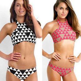 Wholesale Sexy Beachwear Swimwear Women Push Up Neoprene Bikini Set Swim Suit Sexy Summer Costa Maya High Neck Female Bikini