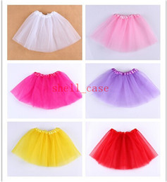 Wholesale Christmas Gifts Colors Candy Color Kids Tutus Skirt Dance Dresses Soft Tutu Short Dress Ballet Skirt layers Children Pettiskirt Clothes