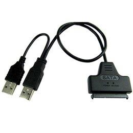 SATA 7 + 15 broches 22Pin vers USB 2.0 Adaptateur pour disque dur 2,5 HDD disque dur VC598 W0.5