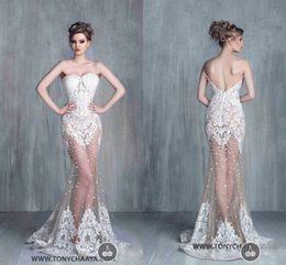 Wholesale Sexy Corset Exposed boning Sweetheart Wedding Dresses Beaded Pearls Gorgeous Lace Wedding Gowns Full Length Lace Appliques Vestidos De Noiva