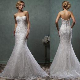 Discount Mermaid Style Wedding Dress Low Back   2017 Mermaid Style ...