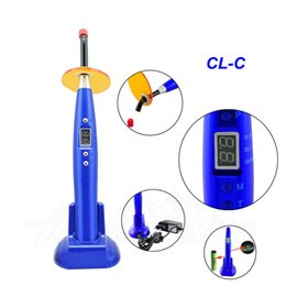 Wholesale 1 Piece New Blue Dental Dentist W big power LED Wireless Cordless Curing Light Lamp mw