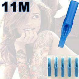 Wholesale 11M Magnum Sterile Tattoo Tips Blue Disposable Tattoo Tips Magnum Flat Shader Tips For Professional Tattoo Artists