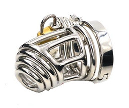 Wholesale Latest Design Super Small Male Cock Cage Bondage Chastity Device A908 Cock ring BDSM New Sex toy Stainless Steel Chastity Belt