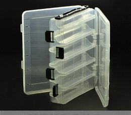 Wholesale Professional Fishing Lure Kit Storage Case Double Layer Fishing Tackle Boxes Portable Tool Box Spinner Spoon Minnow