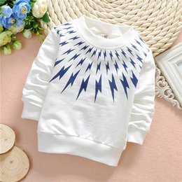 Wholesale baby cool geometric hoodies baby boys baby girls clothes sweatershirts KT369R