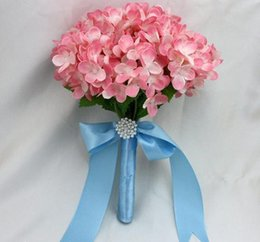 Wholesale Bridesmaid Flower Girl Silk Hydrangea Wedding Bouquet colors New Arrival pc B8