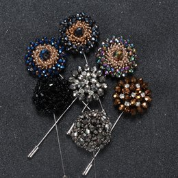 Wholesale European Large Brooch Pins Wedding Rhinestone Pearls for Men Women Suit Dress In Bulk Brooches Pins For Evening Party Dresses