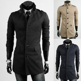 Discount Navy Blue Long Wool Coat | 2017 Navy Blue Long Wool Coat ...