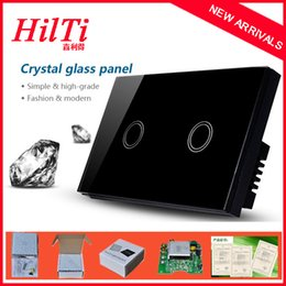 2017 design control panel China Hilti New Design South African Australia USA Luxury Crystal Tempered Glass Panel Touch Control Light Switch,AC 240V,Waterproof Design