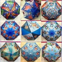 Wholesale 17 Styles new cm the Avengers Umbrella spiderman big hero Princess sofia my little pony Umbrella Cartoon Umbrella Kids Umbrella V001 DHL