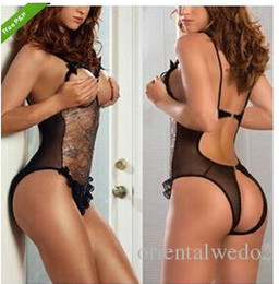 Wholesale New Porn Sexy Lingerie Hot Women s Erotic Lingerie Set Chest Opened Underwear Baby Dolls Lenceria Erotica Intimates