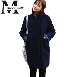 Discount Ladies Navy Coat | 2017 Navy Blue Winter Coat Ladies on ...