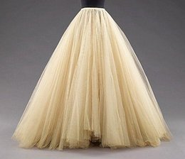 Wholesale Tulle Petticoats Skirts Floor Length Mulitilayer Cheap Party Dress For Girl Free Size Formal Women Gowns Hot Sale Fashion Petticoat