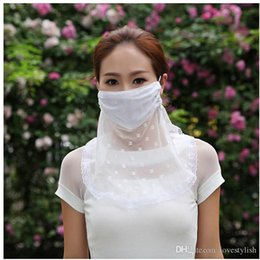 Wholesale 2015 Spring New Summer Neck Face Masks Cartoon Butterfly Pattern Dust Masks Face Masks Lace Sunscreen