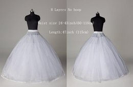 Wholesale 2016 New Arrival White No Hoop Layers Crinoline Petticoat Empire Wedding dresses Petticoat Crinoline Underskirt For Bridal Accessories